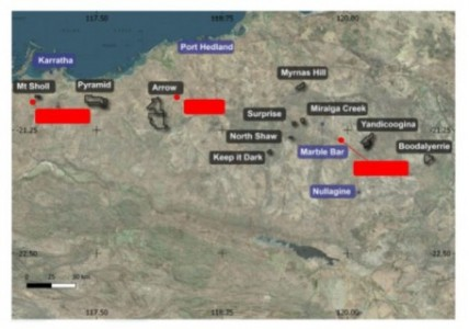 Map 1 : Raiden Pilbara properties