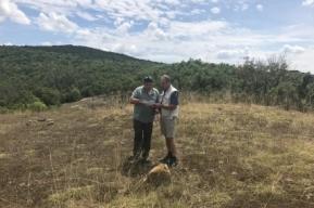 Photo 1:  Raiden's geologists at work in the Kalabak permit area.