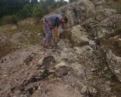 Photo 2:  Geological mapping in the Kalabak permit area.