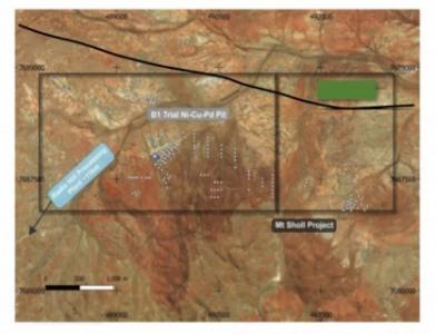 Figure 2: Mt Sholl historic drill collars
